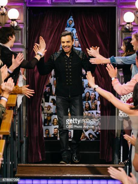 Eugenio Derbez greets the crowd during 'The Late Late Show with James Corden' Wednesday April 26 2017 On The CBS Television Network