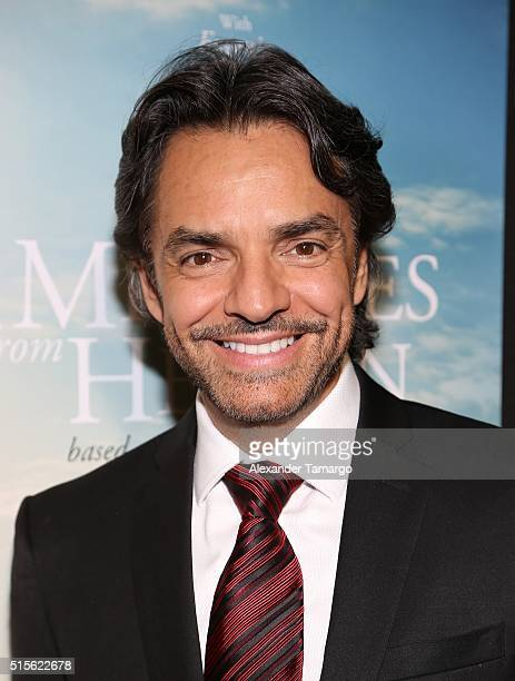 Eugenio Derbez is seen arriving to the premiere of the movie 'Miracles From Heaven' at Regal South Beach on March 14 2016 in Miami Beach Florida
