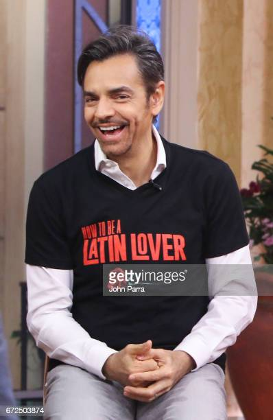 Eugenio Derbez is seen at Despierta America studio to promote the film 'How To Be A Latin Lover' on April 24 2017 in Miami Florida