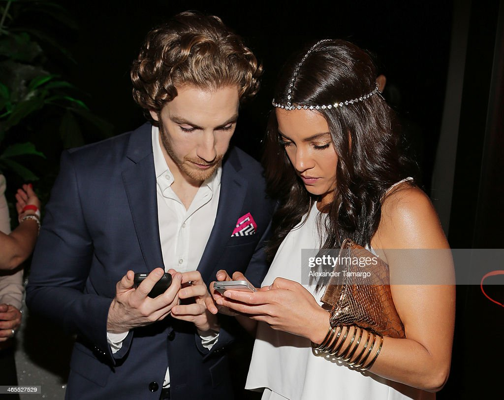 <a gi-track='captionPersonalityLinkClicked' href=/galleries/search?phrase=Eugenio+Siller&family=editorial&specificpeople=5619943 ng-click='$event.stopPropagation()'>Eugenio Siller</a> and Sara Maldonado attend Telemundo Luncheon to launch 'Camelia Le Texana' during NATPE at Eden Roc Hotel on January 27, 2014 in Miami Beach, Florida.