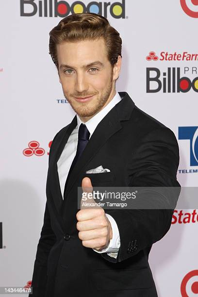 Eugenio Siller arrives at Billboard Latin Music Awards 2012 at Bank United Center on April 26 2012 in Miami Florida