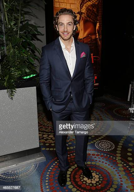 Eugenio Siller attends Telemundo Luncheon to launch 'Camelia Le Texana' during NATPE at Eden Roc Hotel on January 27 2014 in Miami Beach Florida