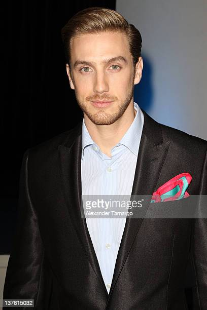 Eugenio Siller attends Telemundo Press Event At NATPE 2012 at Eden Roc a Renaissance Beach Resort and Spa on January 23 2012 in Miami Beach Florida