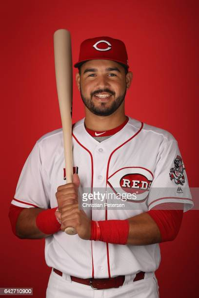 Eugenio Suarez of the Cincinnati Reds poses for a portait during a MLB photo day at Goodyear Ballpark on February 18 2017 in Goodyear Arizona
