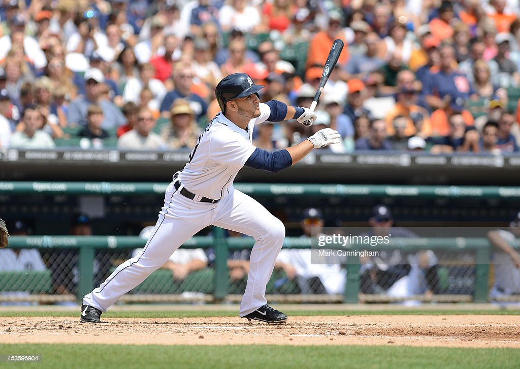 <a gi-track='captionPersonalityLinkClicked' href=/galleries/search?phrase=Eugenio+Suarez&family=editorial&specificpeople=10488763 ng-click='$event.stopPropagation()'>Eugenio Suarez</a> #30 of the Detroit Tigers bats during the game against the Chicago White Sox at Comerica Park on July 31, 2014 in Detroit, Michigan. The White Sox defeated the Tigers 7-4.