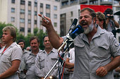 Eugène Terre Blanche leader of Afrikaner Weerstands Beweging founded in 1973 a white supremacist movement that wants the maintaining of total...
