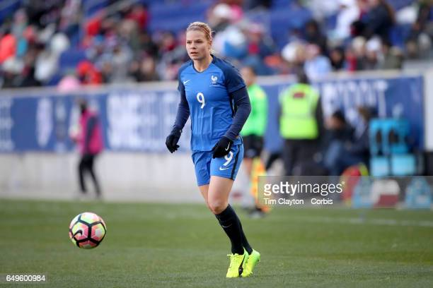 Eugénie Le Sommer of France in action during the France Vs Germany SheBelieves Cup International match at Red Bull Arena on March 4 2017 in Harrison...
