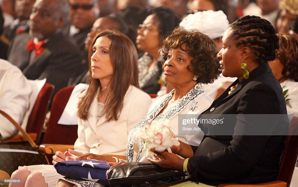 Eula May Dent attends the Memorial Of Reverend Frederick Joseph Eikerenkoetter II at Christ United Church on August 15 2009 in New York City