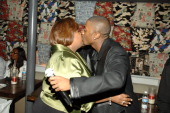 Eunetta Boone and Ray J during UPN's 'One on One' 100th Episode Party in Los Angeles California United States