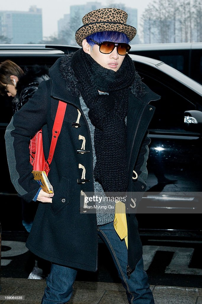 Eunhyuk of South Korean boy band Super Junior is seen at Gimpo International Airport on January 7, 2013 in Seoul, South Korea.