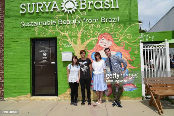 Eunice and David Margaret Kwiatkowski and Sean O'Hara Director of Operations of Surya Brasil attend as Surya Brasil celebrates 20th anniversary in...