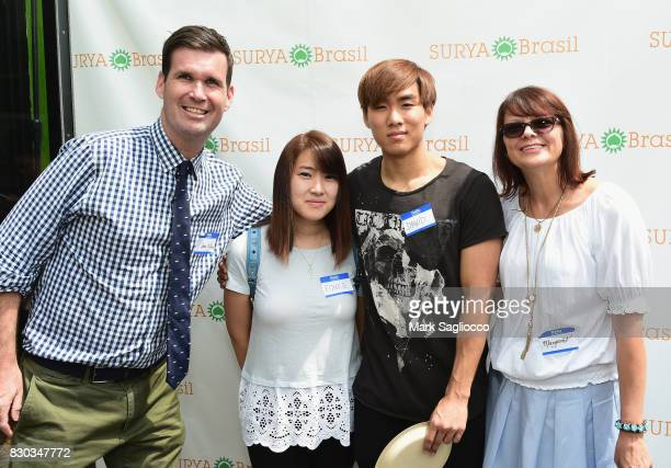Eunice and David Margaret Kwiatkowski attend as Surya Brasil celebrates 20th anniversary in the United States on August 11 2017 in New Hyde Park New...