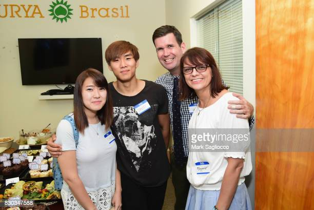 Eunice and David Sean O'Hara and Margaret Kwiatkowski attend as Surya Brasil celebrates 20th anniversary in the United States on August 11 2017 in...
