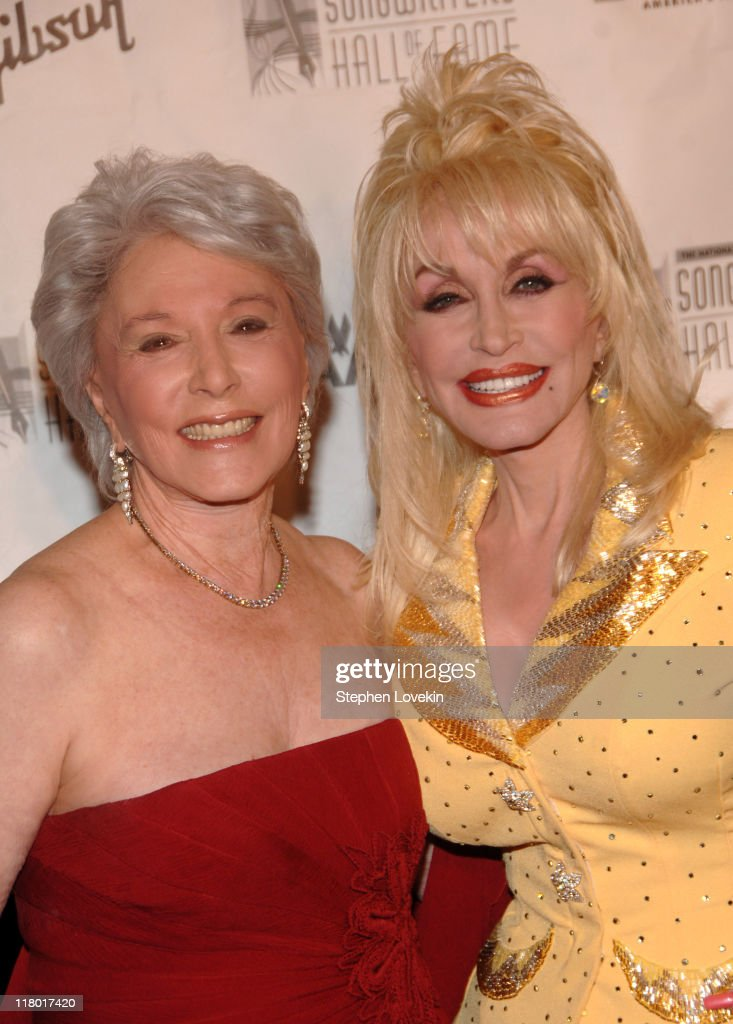 Eunice David and Dolly Parton during 38th Annual Songwriters Hall of Fame Ceremony - Arrivals at Marriott Marquis in New York City, New York, United States.