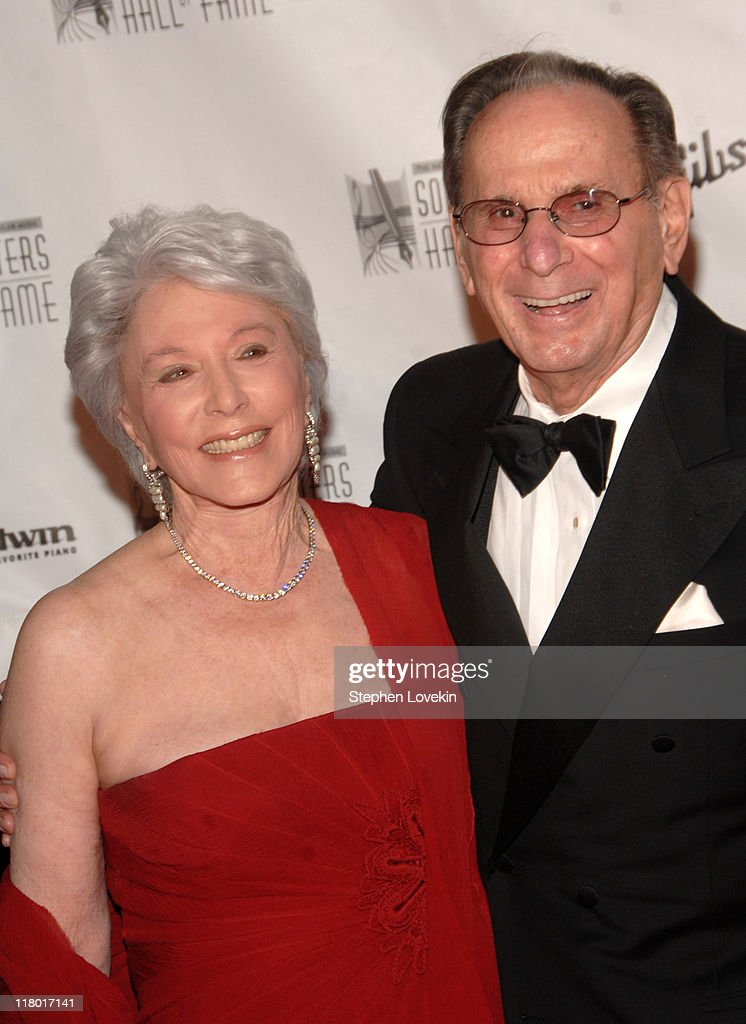 Eunice David and Hal David during 38th Annual Songwriters Hall of Fame Ceremony - Arrivals at Marriott Marquis in New York City, New York, United States.