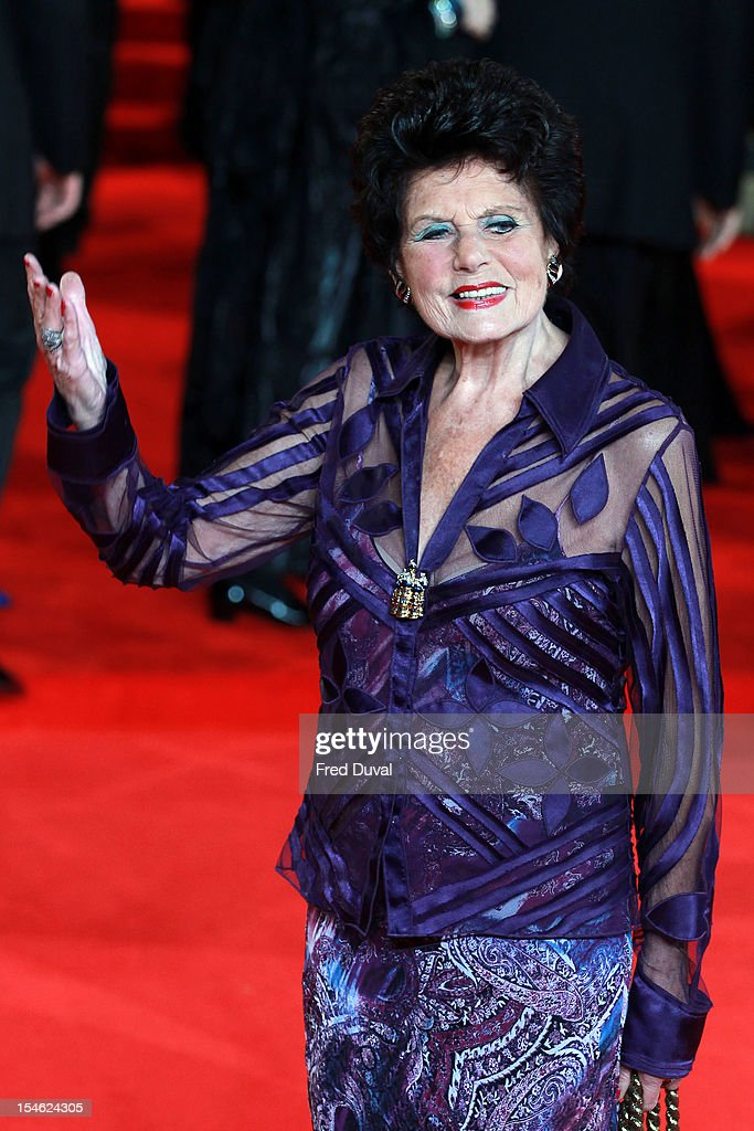 Eunice Gayson attends the Royal World Premiere of 'Skyfall' at Royal Albert Hall on October 23, 2012 in London, England.