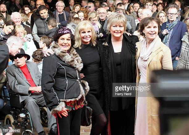 Eunice GaysonBritt Ekland Jenny Hanley and Madeline Smith attend the launch of 'Bond In Motion Launch Event The World's Largest Retrospective Of Bond...