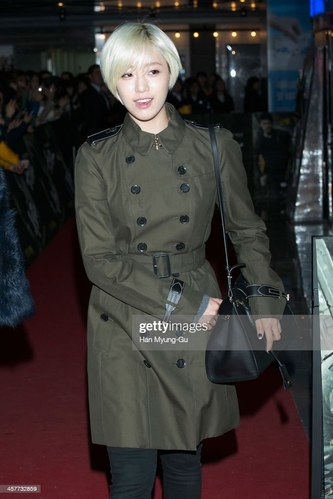 Eunjung (Eun-Jung) of South Korean girl group T-ara attends 'The Suspect' VIP screening at COEX Mega Box on December 17, 2013 in Seoul, South Korea. The film will open on December 24, in South Korea.