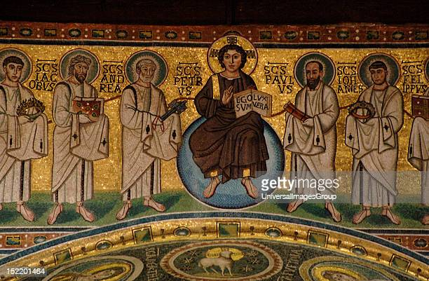 ART CROATIA Euphrasian Basilica Byzantine church built in the sixth century World Heritage Site by UNESCO in 1997 Mosaic with Christ and the twelve...