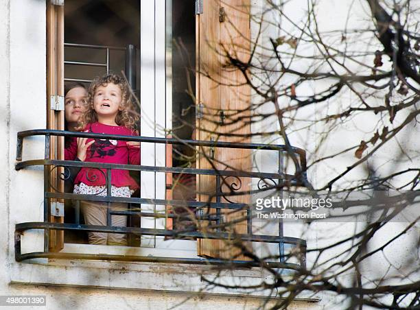 Euresa Gerguri age 10 and her 2yearold sister Mirika say their family watched the seige on suspected terrorists this morning from their window in the...
