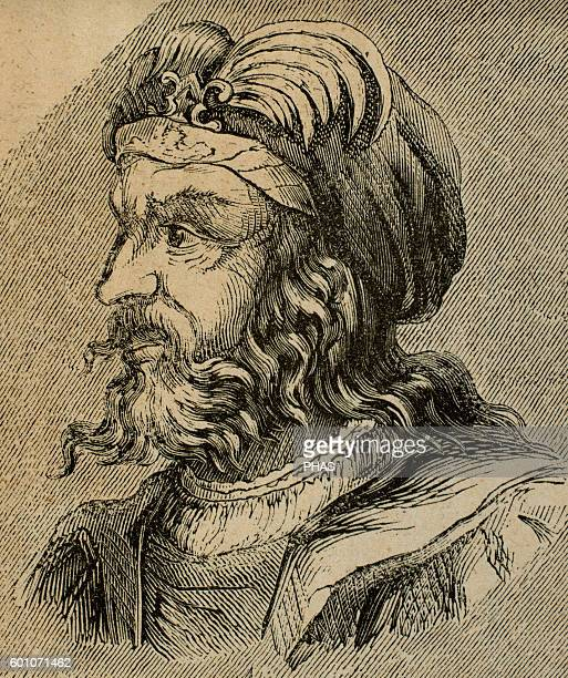 Euric Ruled as king of the Visigoths with his capital at Toulouse from 466 until his death in 484 Portrait Engraving