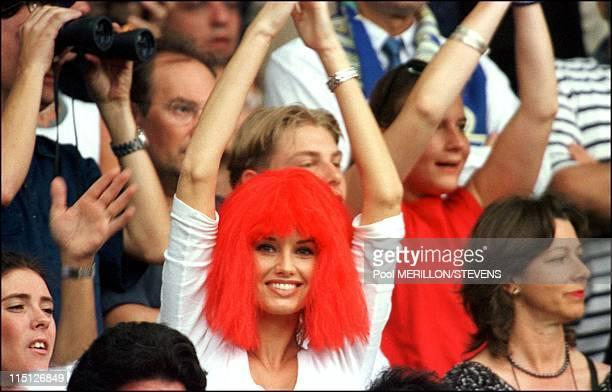 Euro 2000 final France Italy 2 1 in Rotterdam Netherlands on July 02 2000 Adriana Karembeu
