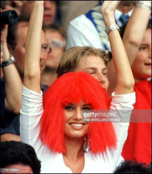 Euro 2000 final France Italy 2 1 in Rotterdam Netherlands on July 02 2000 Adriana Karembeu