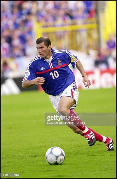 Euro 2000 France defeats Denmark 30 in Bruges Belgium on June 11 2000 Zinedine Zidane