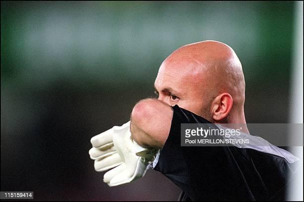 Euro 2000 France Spain 2 1 in Bruges Belgium on June 25 2000 Barthez