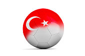 Soccer balls with team flags, Football Euro 2016. Group D, Turkey- clipping path
