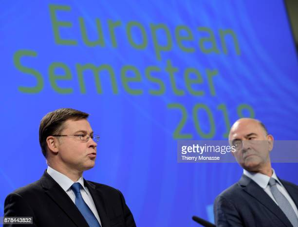 Euro and Social Dialogue and Financial Stability Financial Services and Capital Markets Union Commissioner Valdis Dombrovskis and the EU Economic and...