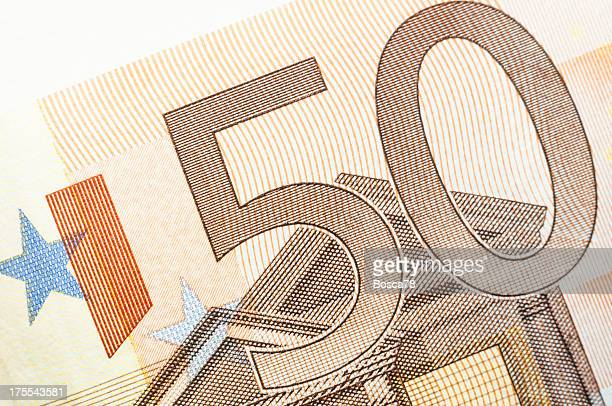 Euro bank note detail