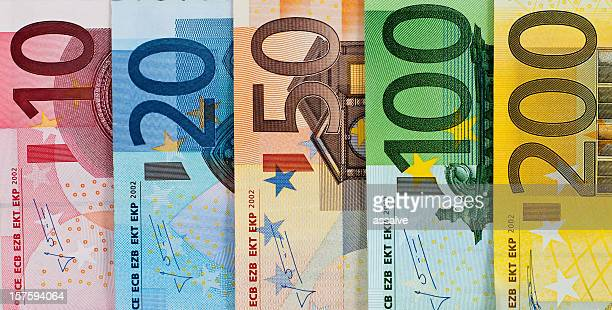 Euro bank notes currency