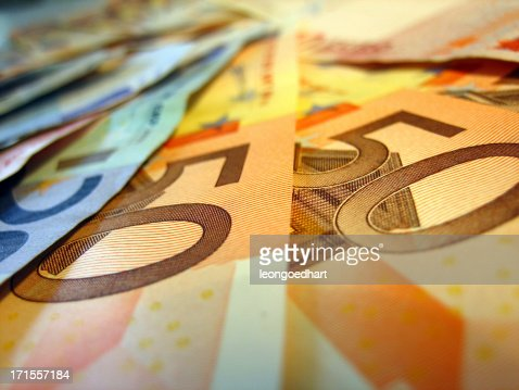 euro banknotes, fifty