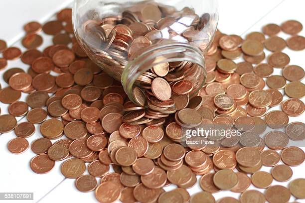 Euro cents coins