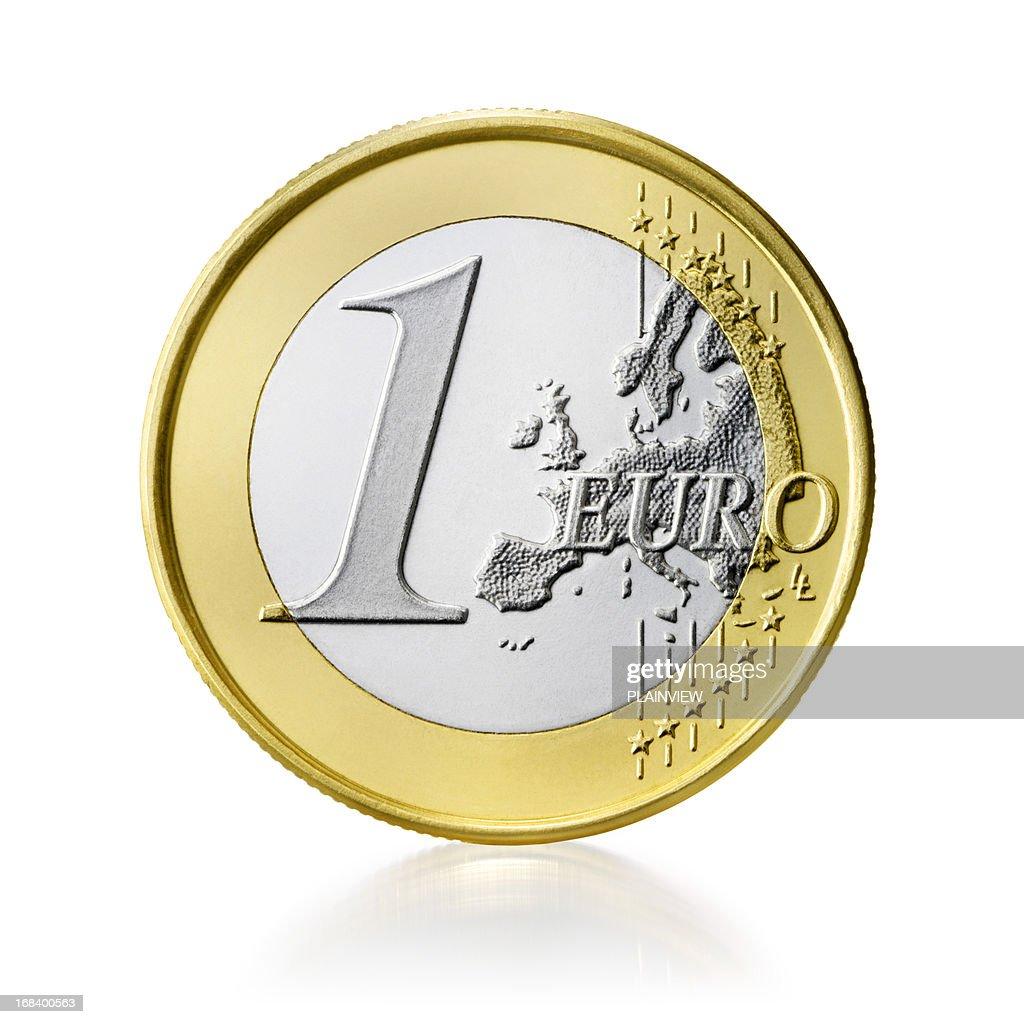 Euro coin (+clipping path)