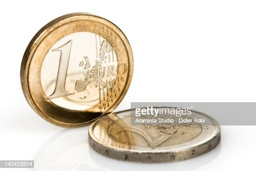 Euro Coins over white background : Stock Photo