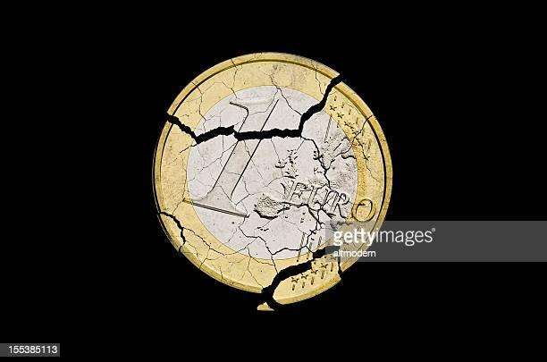 Euro damaged