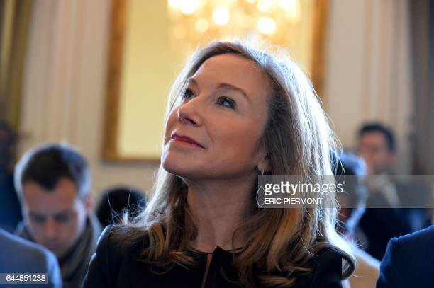 Euro Disney SAS President Catherine Powell attends the presentation of a study on the economic and social contribution of Disneyland Paris in Paris...