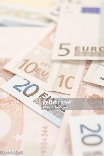 Euro notes in different denominations