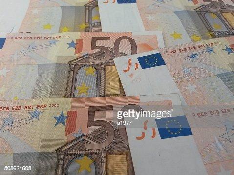Euro notes : Stock Photo