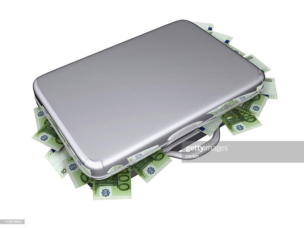 euro suitcase : Stock Photo
