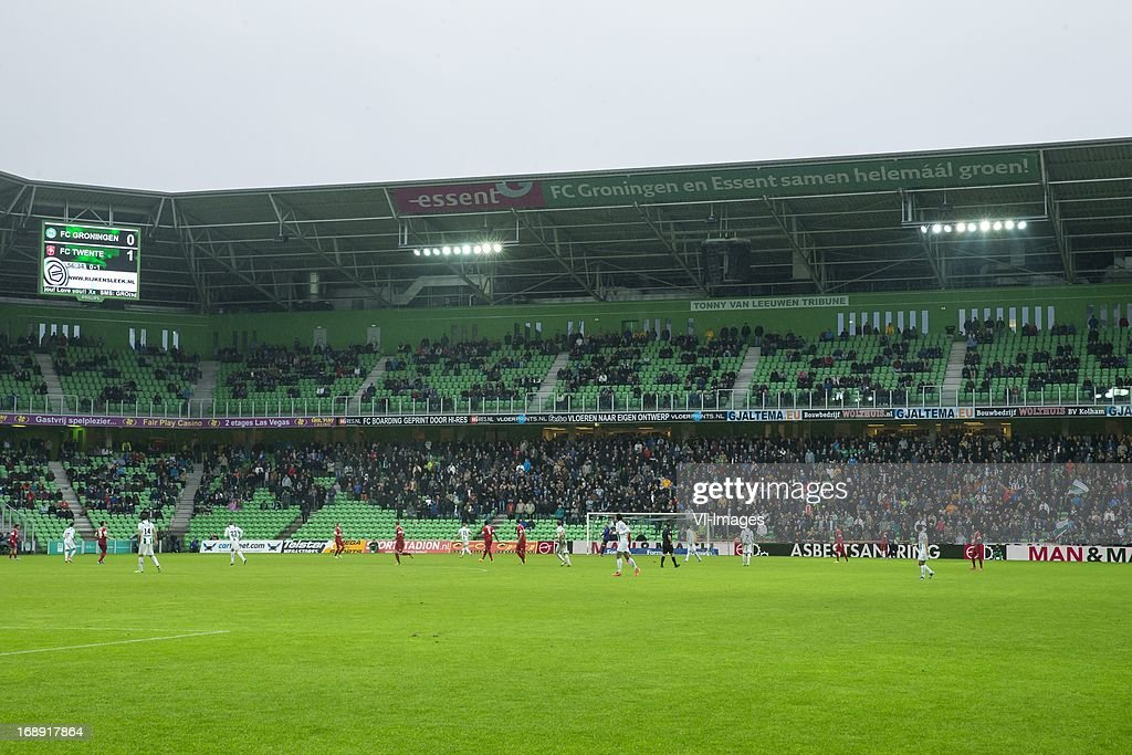 Euroborg stadium during FC Groningen - FC Twente during the Eredivisie Europa League Playoff match between FC Groningen and FC Twente on May 16, 2013 at the Euroborg stadium at Groningen, The Netherlands.