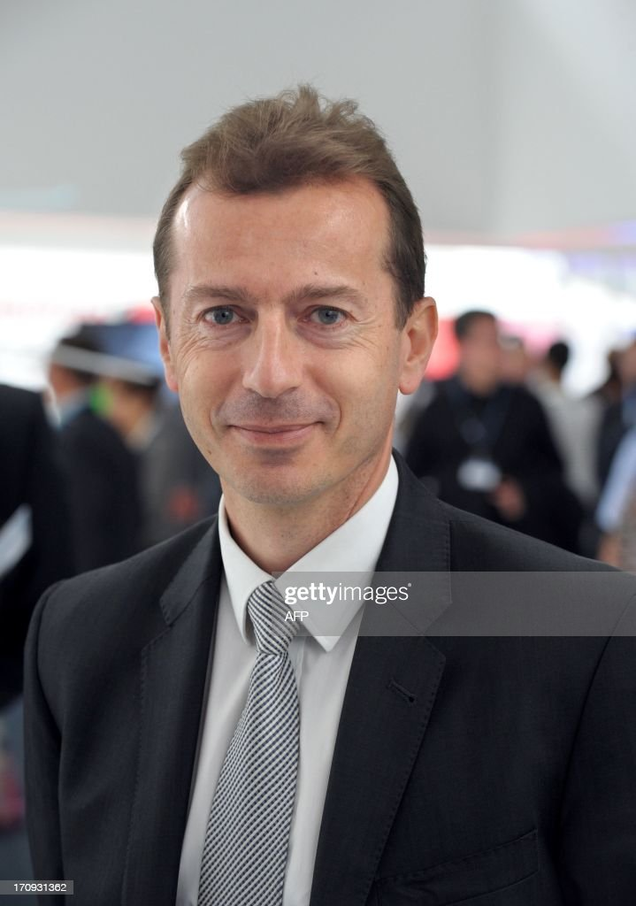 Eurocopter Chairman Guillaume Faury poses at Le Bourget airport, near Paris on June 20, 2013 during the 50th International Paris Air show.
