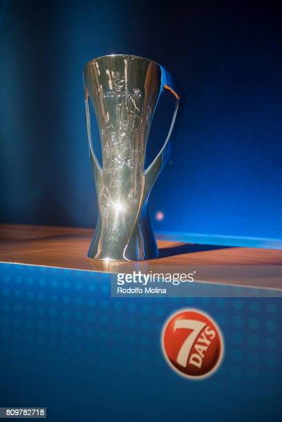 Eurocup trophy during the 20172018 7Days EuroCup Draw at Imagina Centre Audiovisual on July 6 2017 in Barcelona Spain