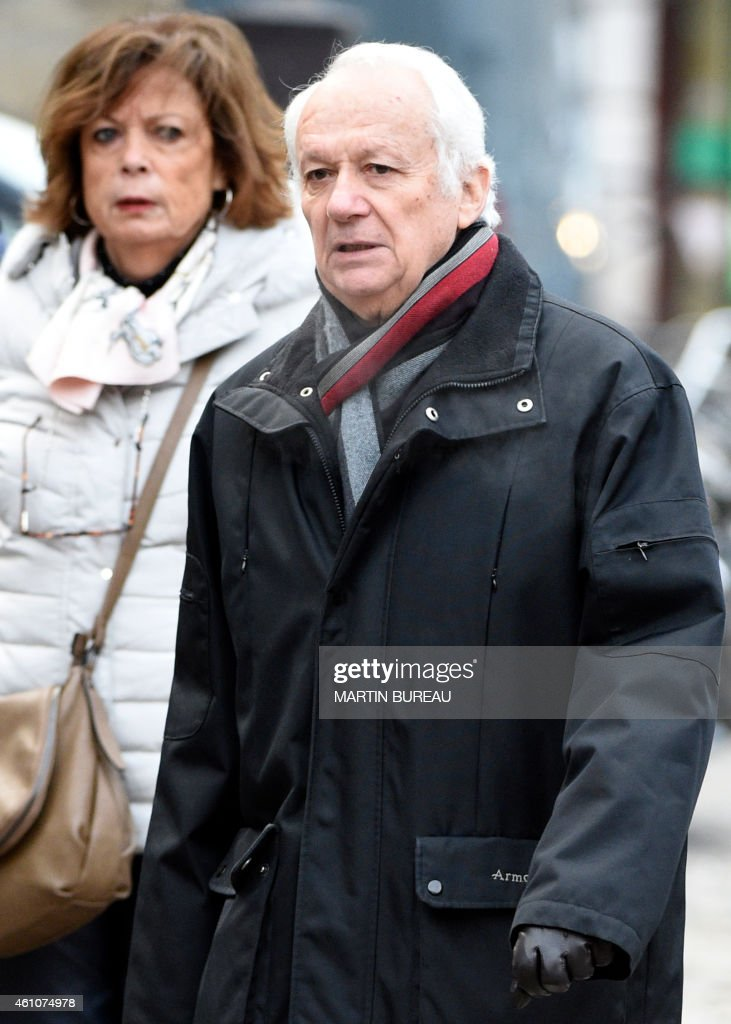Eurodeputy and former president of the French public service radio broadcaster Radio France <a gi-track='captionPersonalityLinkClicked' href=/galleries/search?phrase=Jean-Marie+Cavada&family=editorial&specificpeople=687415 ng-click='$event.stopPropagation()'>Jean-Marie Cavada</a> arrives for the funeral ceremony of French journalist Jacques Chancel at the Saint-Germain-des-Pres church in Paris on January 6, 2015. Chancel died on December 23, 2014 in Paris at the age of 86.