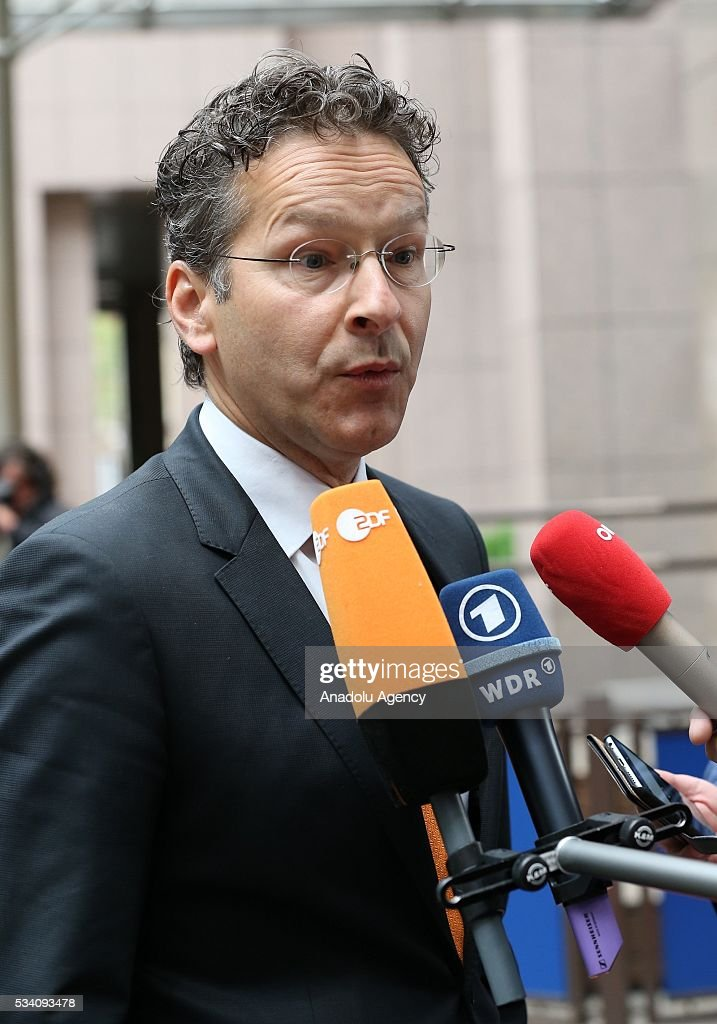 Eurogroup President, Jeroen Dijsselbloem makes statement to the media ahead of EU economic and financial council meeting, in Brussels, Belgium on May 25, 2016.
