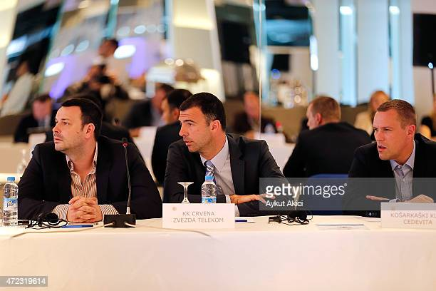 Euroleague delegations during the Turkish Airlines Euroleague Basketball ECA Shareholders Meeting at Ulker Sports Arena on May 6 2015 in Istanbul...