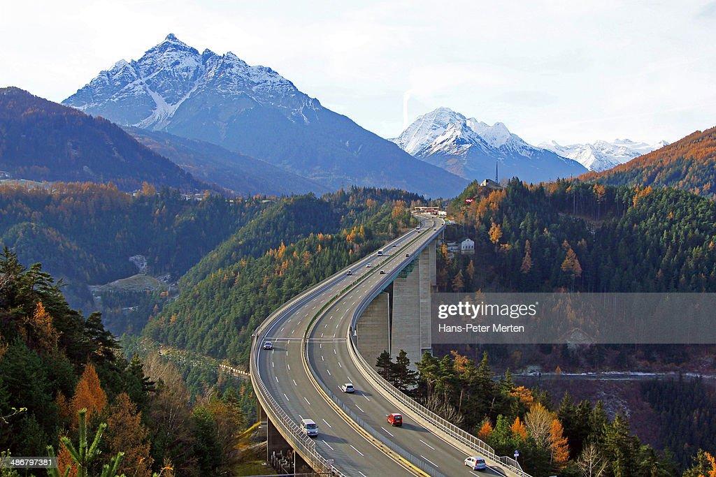 Europa Bridge at Brenner Highway, Austria