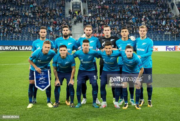 Europa League Group L Round 2 football match at Saint Petersburg Stadium Zenit 3 1 Real Sociedad Pictured Domenico Criscito Mathias Kranewitter...
